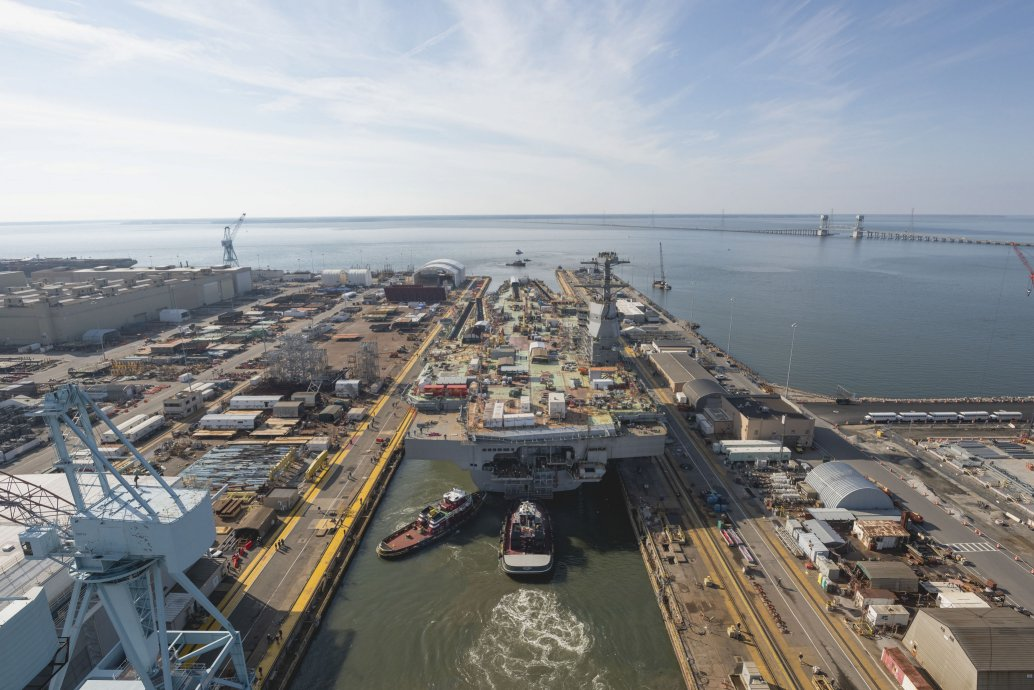 """US Navy sees """"no huge impact"""" from carrier Kennedy fire and hotwork halt"""