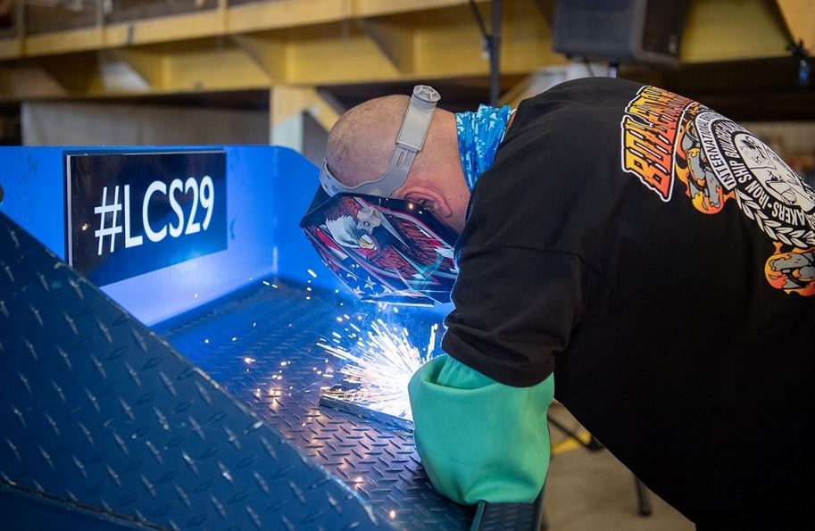 Keel laid for US Navy's newest littoral combat ship