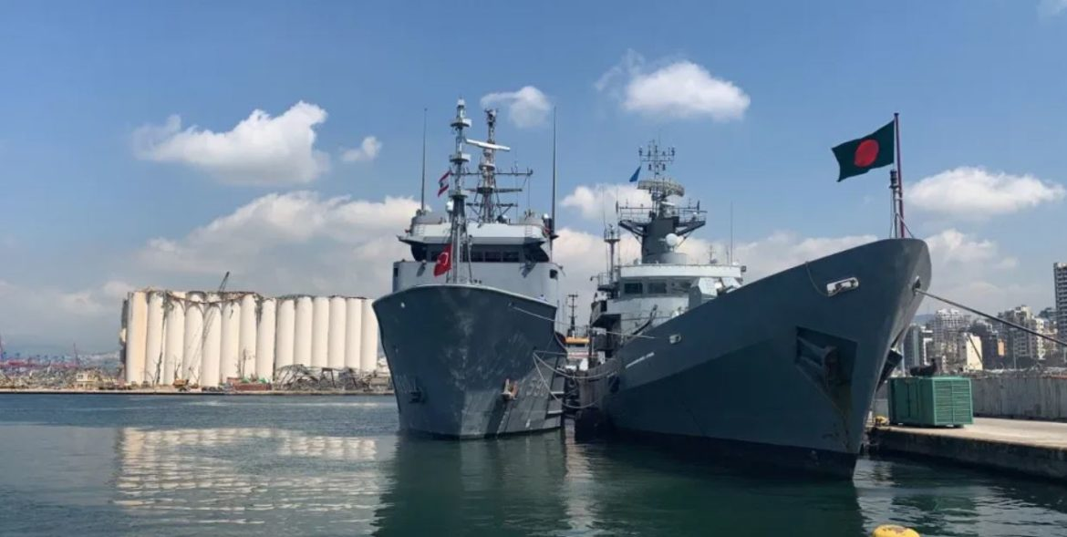 Damaged Bangladeshi Navy corvette is being towed by Turkish tug for repair