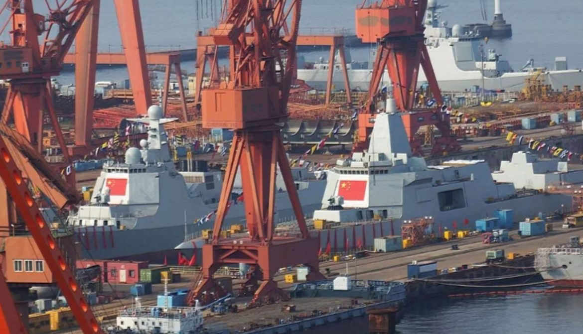 Dalian Shipyard launches 8th Type 055 & 25th Type 052D Destroyers for PLA Navy