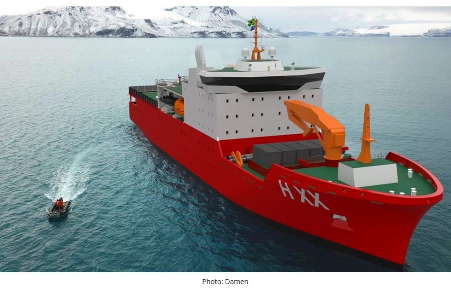 Wilson Sons, Damen to jointly bid for Brazilian Navy's new Antarctic support ship