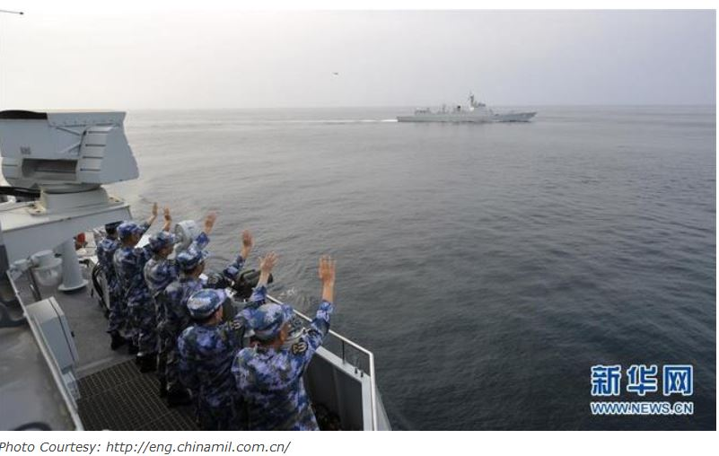 Chinese naval assets conduct mission handover in the Gulf of Aden