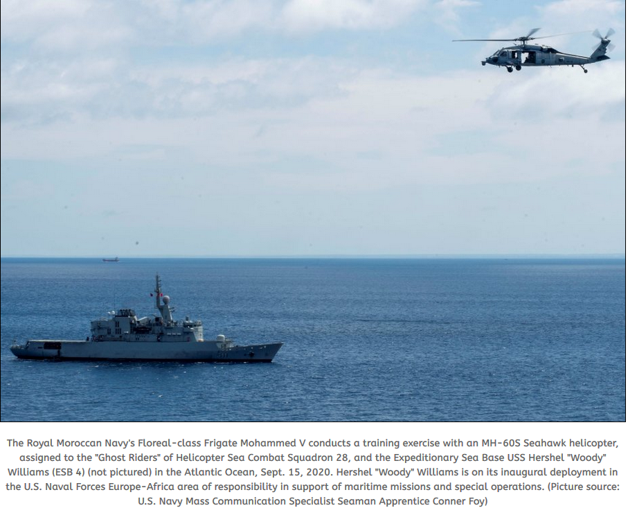 USS Hershel Woody Williams conducts tracking exercise with Royal Moroccan Navy