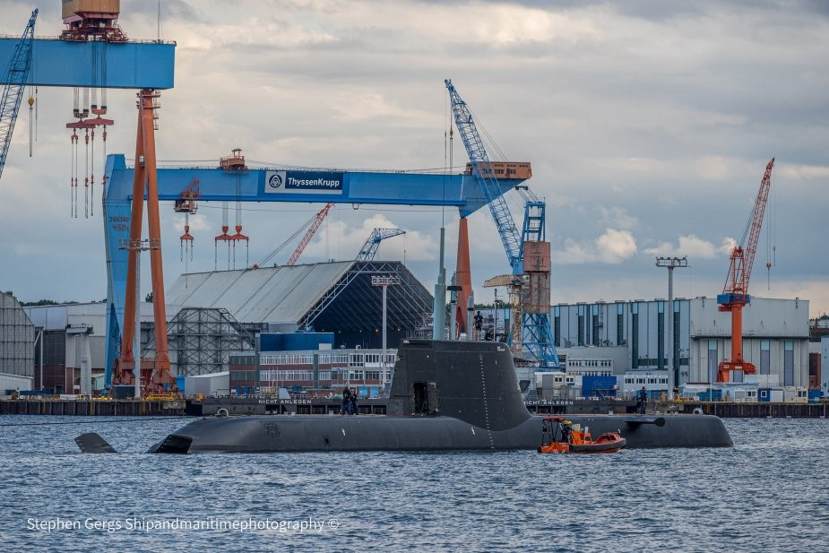 """New Type 218SG submarine """"Invincible"""" built for Singapore Navy starts factory sea trials"""