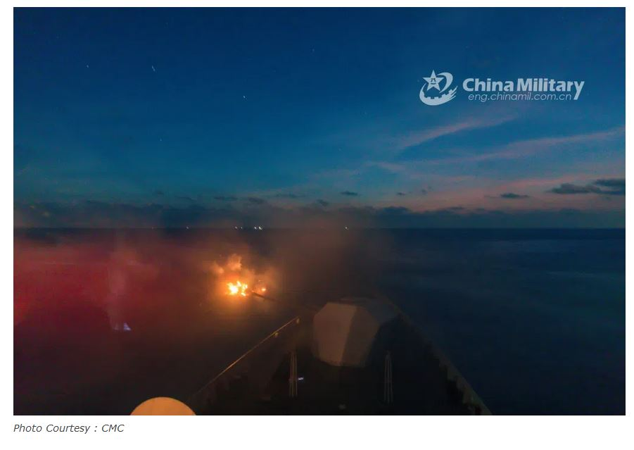 PLA Navy conducts exercise in the South China Sea