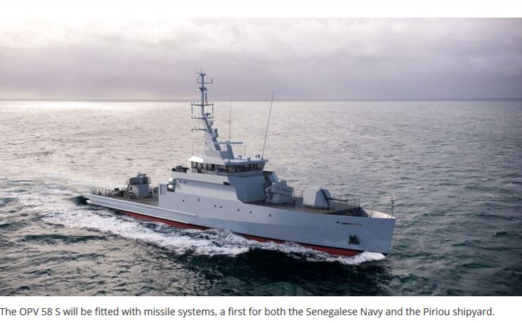 PIRIOU Cuts First Steel on OPV Ordered by Senegal
