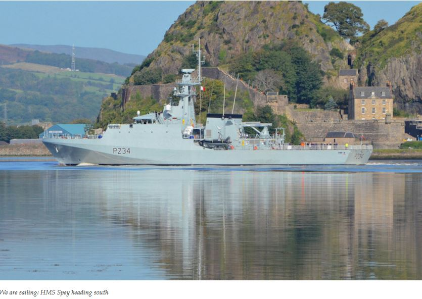 Eco-friendly HMS Spey leaves Clyde for new home