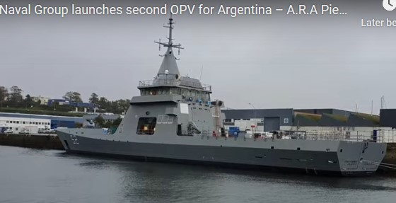 Argentine Navy's new OPV launched in France