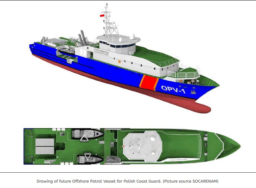 SOCARENAM from France to deliver 3 Offshore Patrol Vessels to Polish Coast Guard