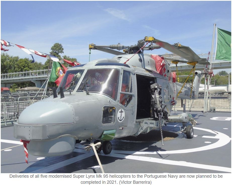 First Portuguese modernised Super Lynx delayed to 2021