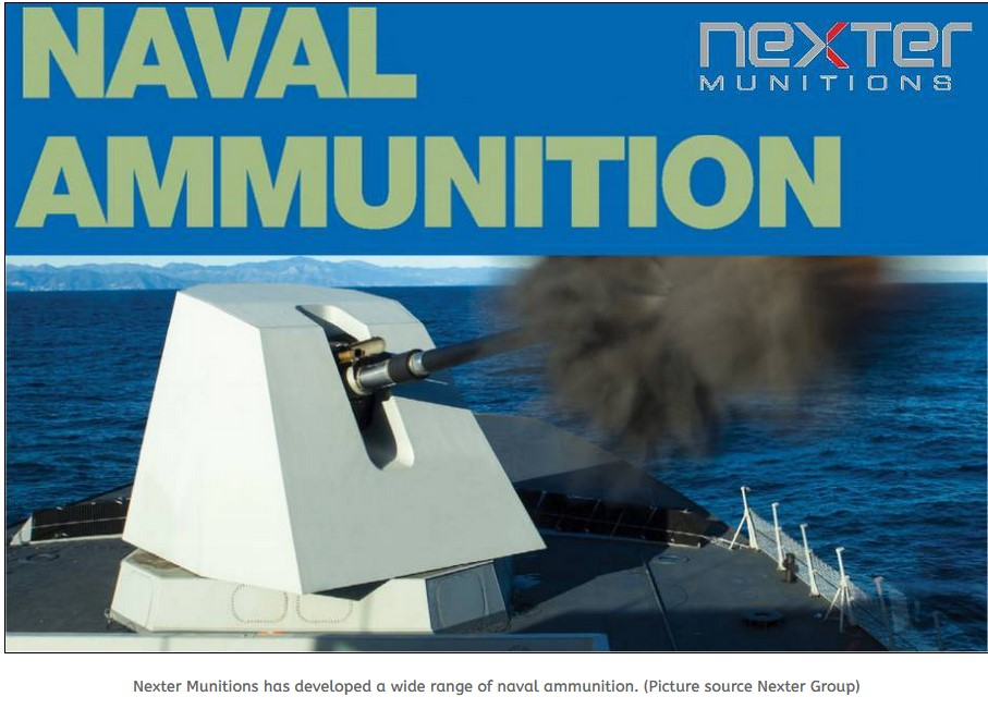 Nexter Group from France presents its full range of naval ammunition