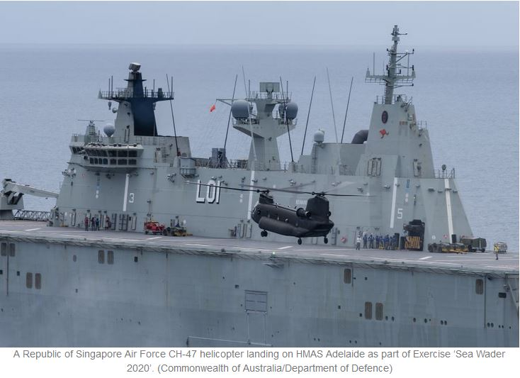 Australia, Singapore further enhance defence relations with CH-47 deck landing