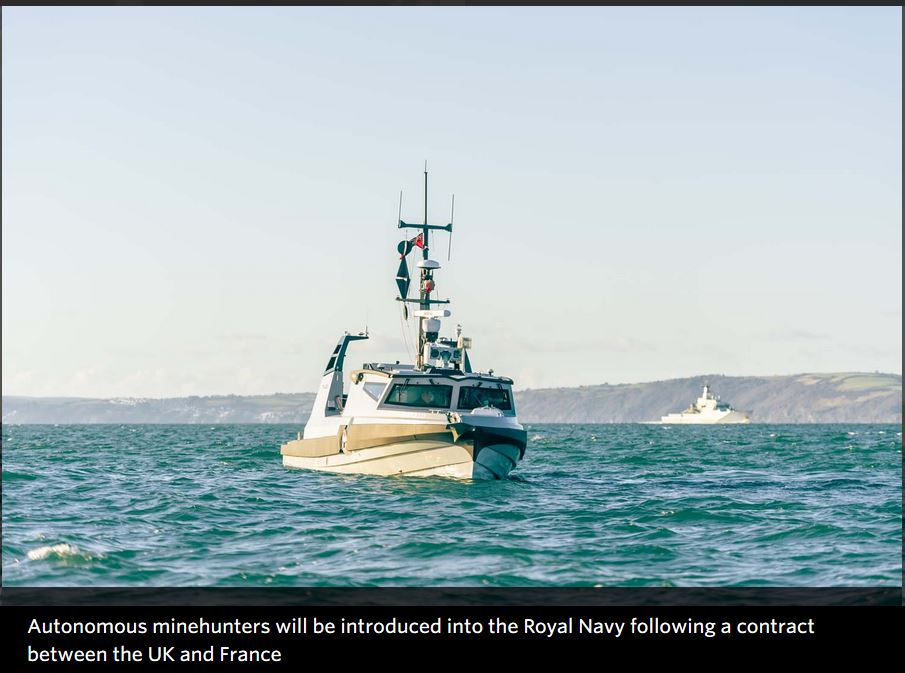 Contract sees cutting-edge autonomous minehunters for Royal Navy