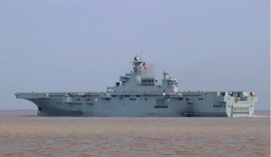 China's New Type 075 Amphibious Assault Ship starts the second round of sea trials