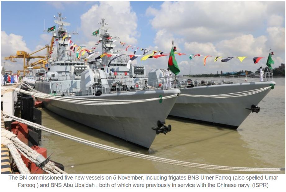 Bangladesh Navy commissions five new vessels