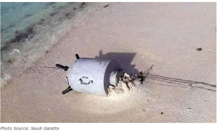 Arab Coalition hunts more than a hundred sea mines at the south of the Red Sea