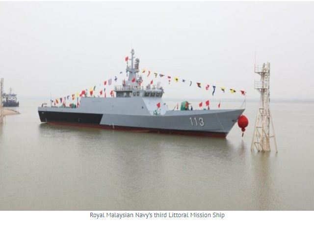 China Launches Malaysia's Third Littoral Ship