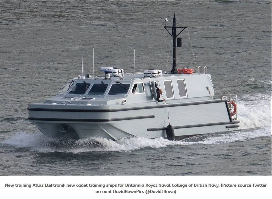 Atlas Elektronik UK delivers first training vessels to to Britannia Royal Naval College of British Navy