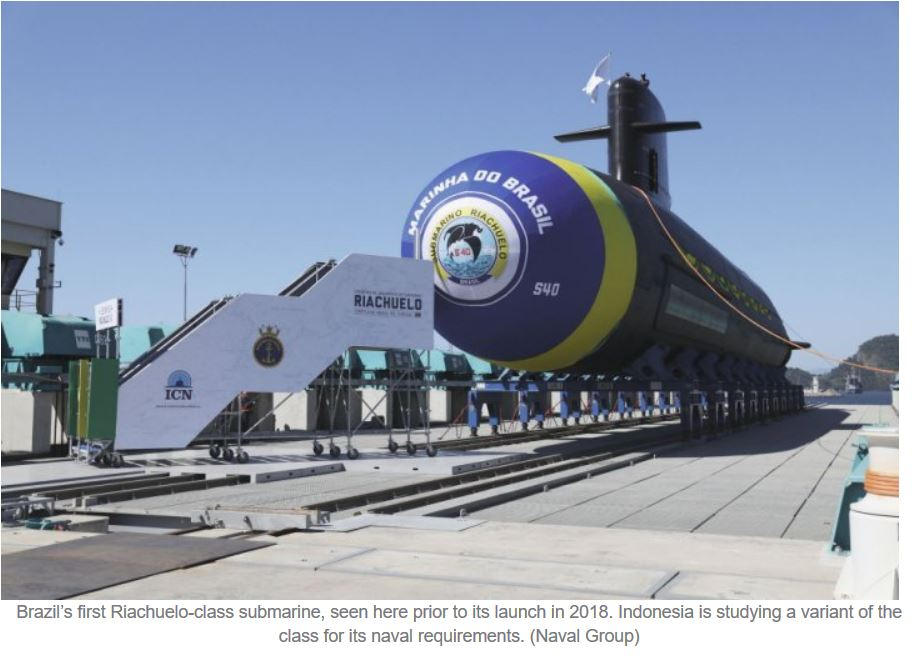 Indonesia in talks with Naval Group for variant of Riachuelo-class submarine