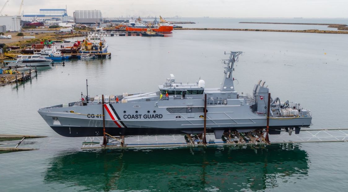 1st Cape-class patrol boat for Trinidad and Tobago launched