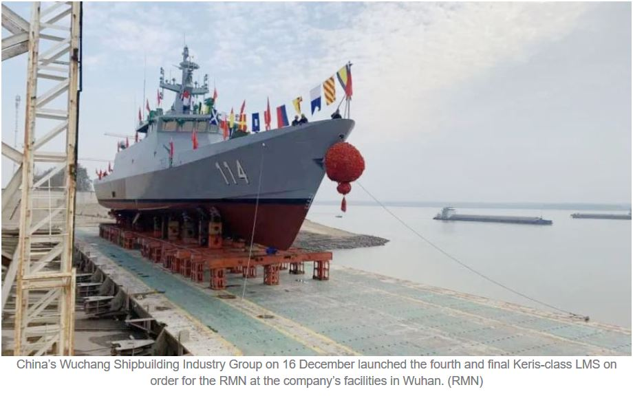 China launches fourth and final LMS for Royal Malaysian Navy