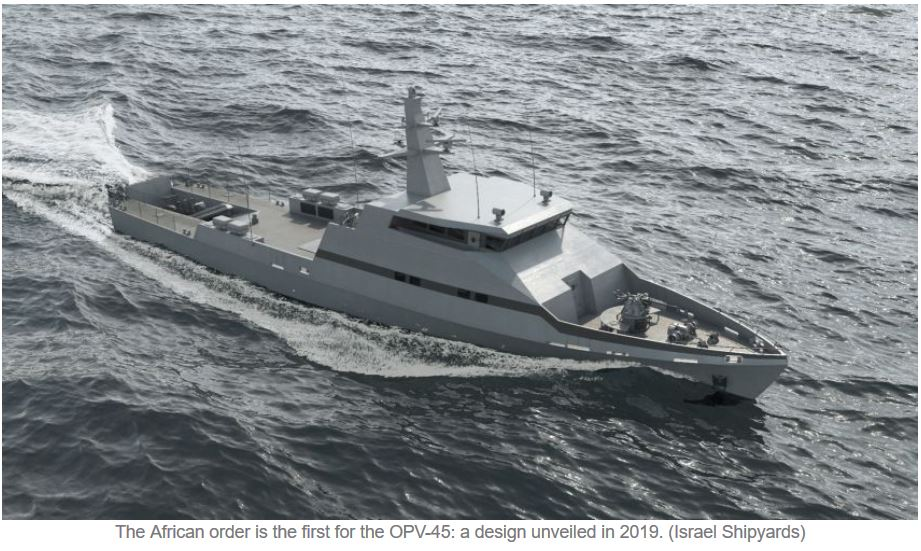 Israel Shipyards starts construction of first African OPV-45 patrol boats