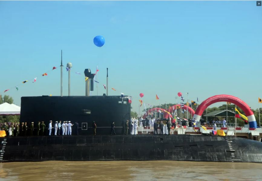 Indian submarine INS Sindhuvir officially inducted into Myanmar Navy