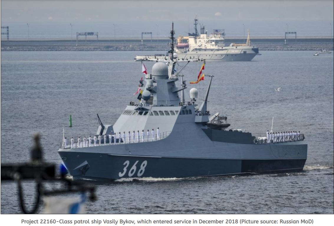 Fifth and sixth Project 22160 ships to join Russian Navy's Black Sea Fleet