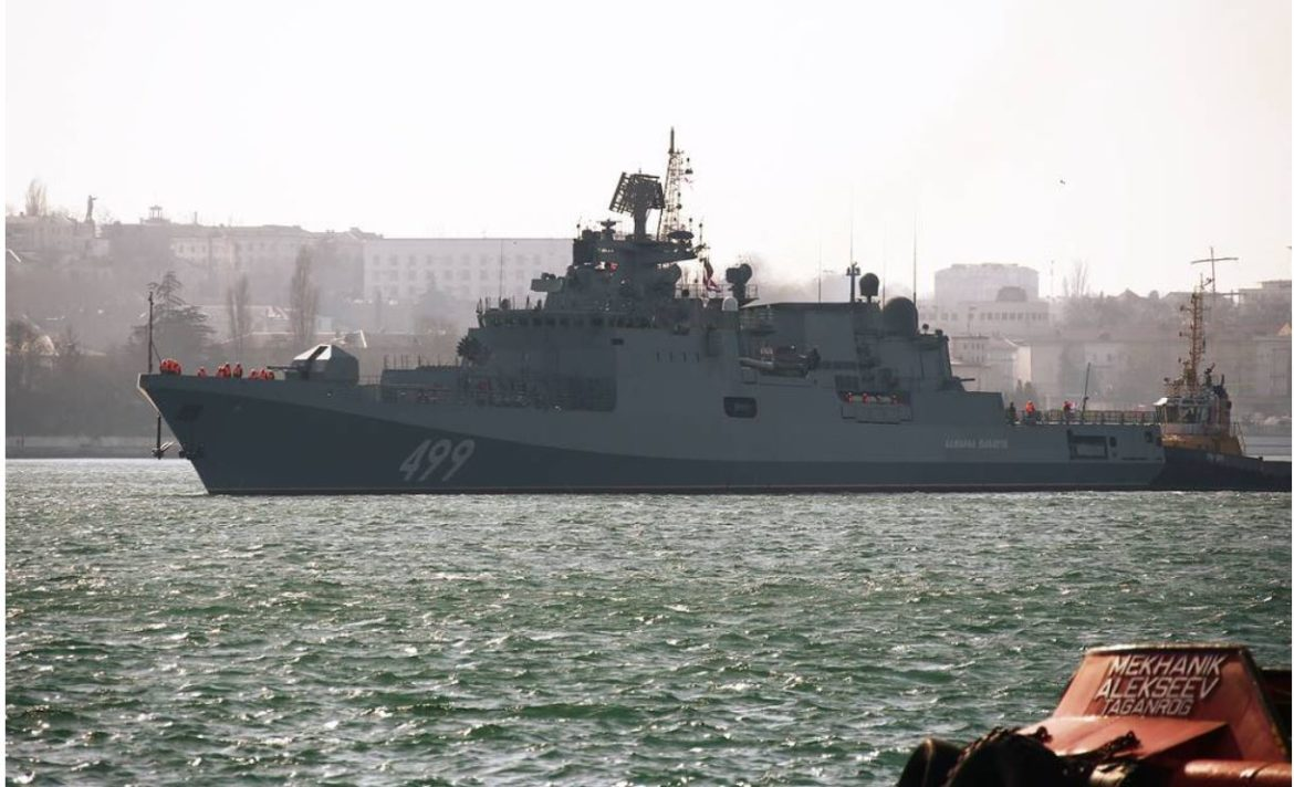 Russia's Admiral Makarov frigate conducts drills amid US destroyer's presence in Black Sea