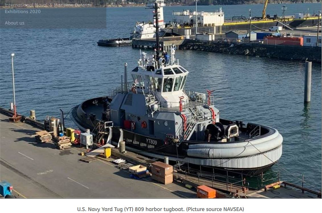 US Navy second in class Yard Tug YT 809 harbor tugboat completed acceptance trials