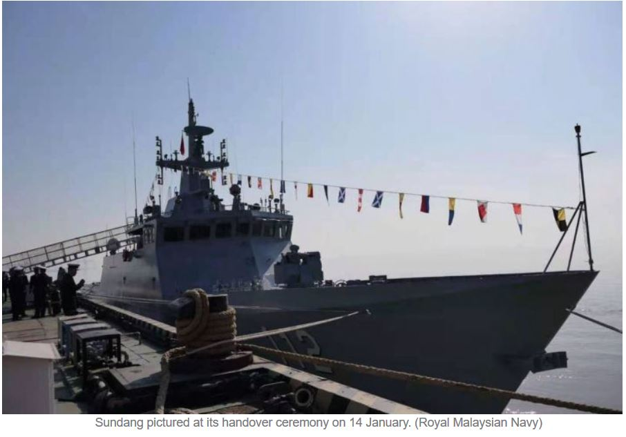 Malaysia takes delivery of second Littoral Mission Ship from China