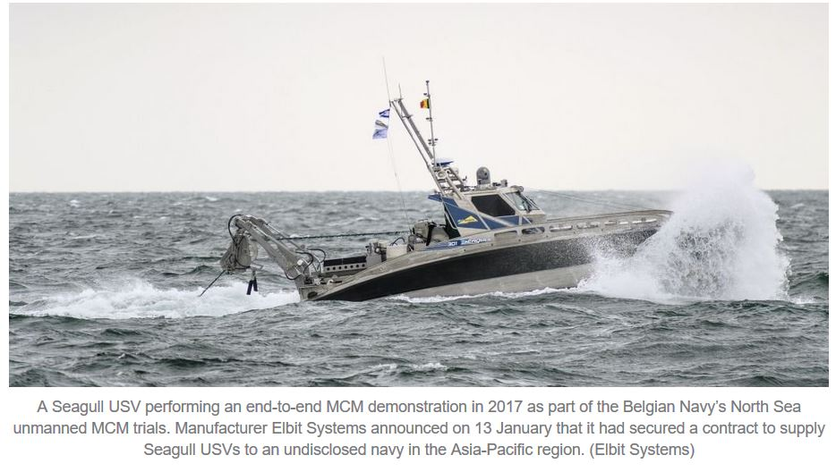Elbit Systems to supply Seagull USVs to navy of Asia-Pacific country