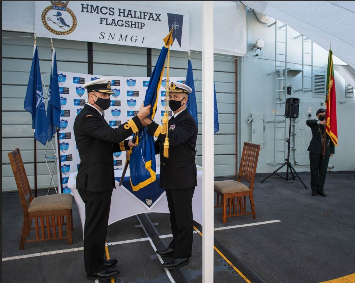 Portugal hands over command of SNMG1 to Canada