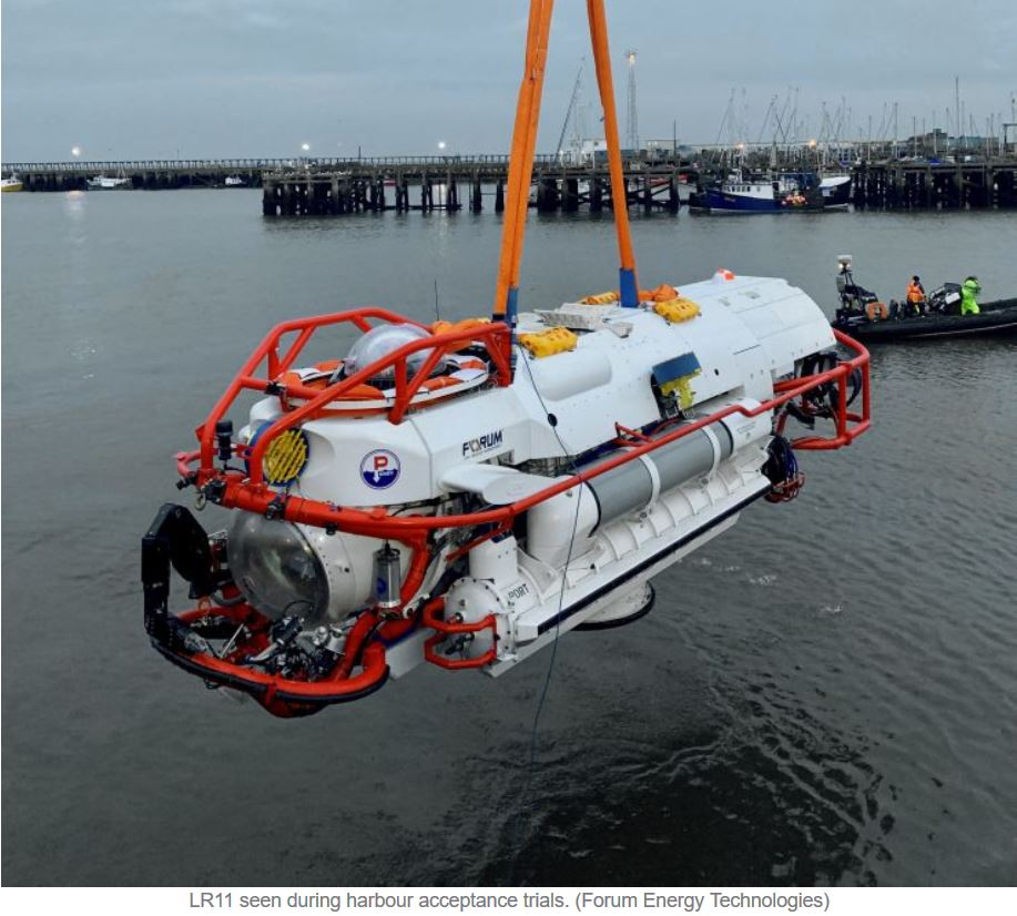LR11 submarine rescue vehicle to ship for Indo-Pacific navy