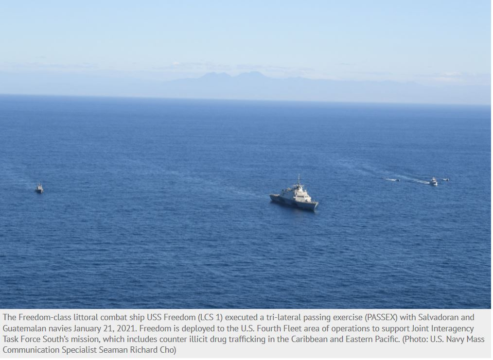 USS Freedom Completes Tri-lateral PASSEX with El Salvador, Guatemala