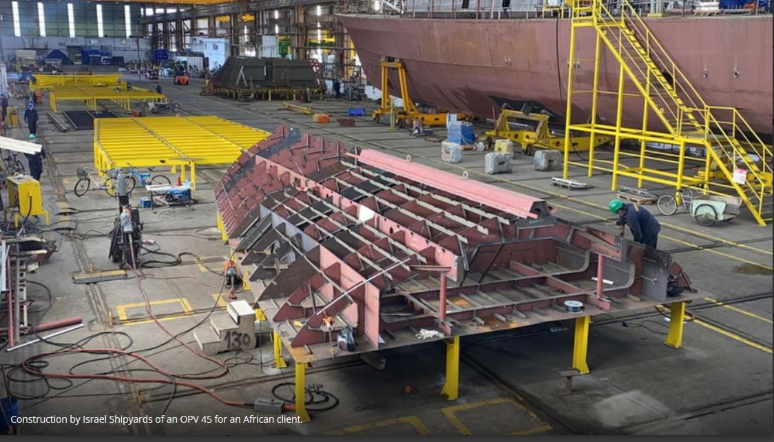 Israel Shipyards begins construction of OPV-45 vessels for African country