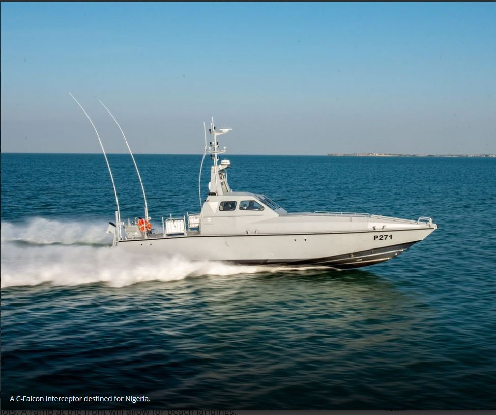 Nigerian Navy about to receive more C-Falcon interceptors