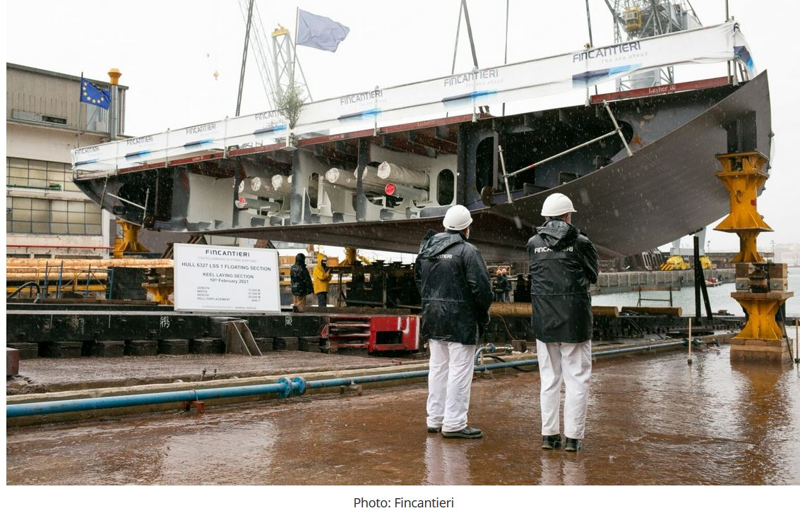 Keel laid for forward section of French Navy's 1st FLOTLOG LSS