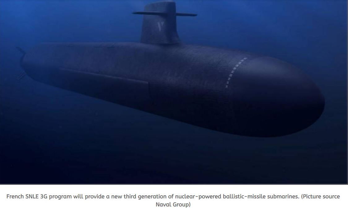 Thales to develop sonar suite for new generation of French nuclear-powered ballistic-missile submarine