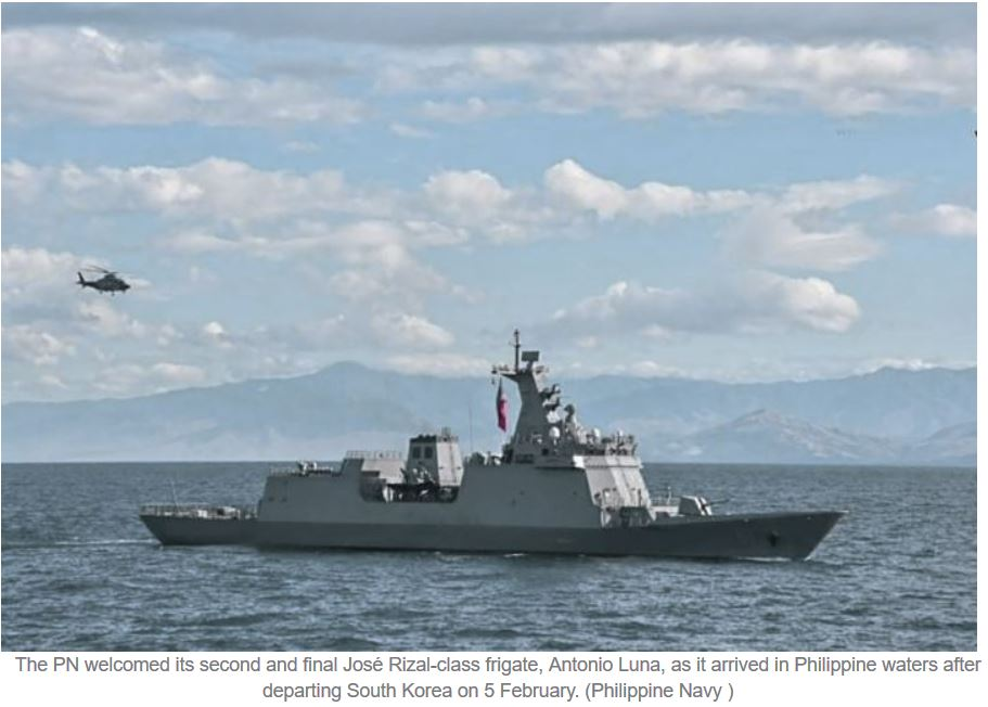 PN's second and final José Rizal-class frigate arrives in Philippines