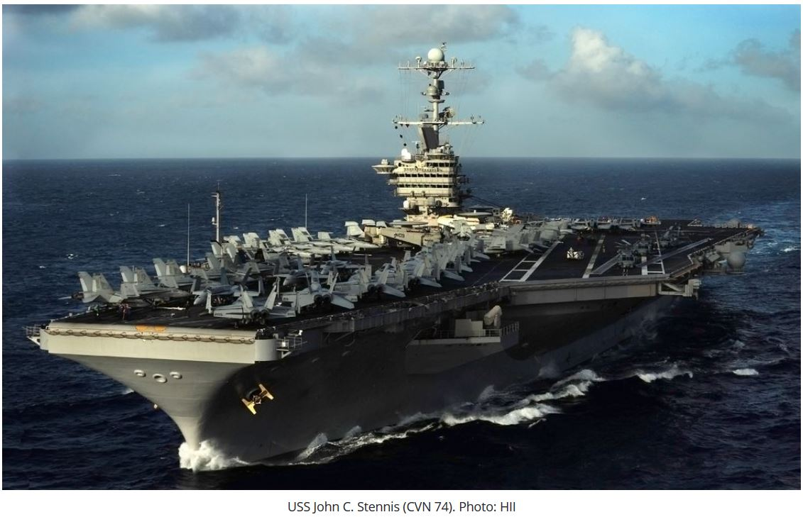 HII secures $2.9B deal for USS John C. Stennis RCOH
