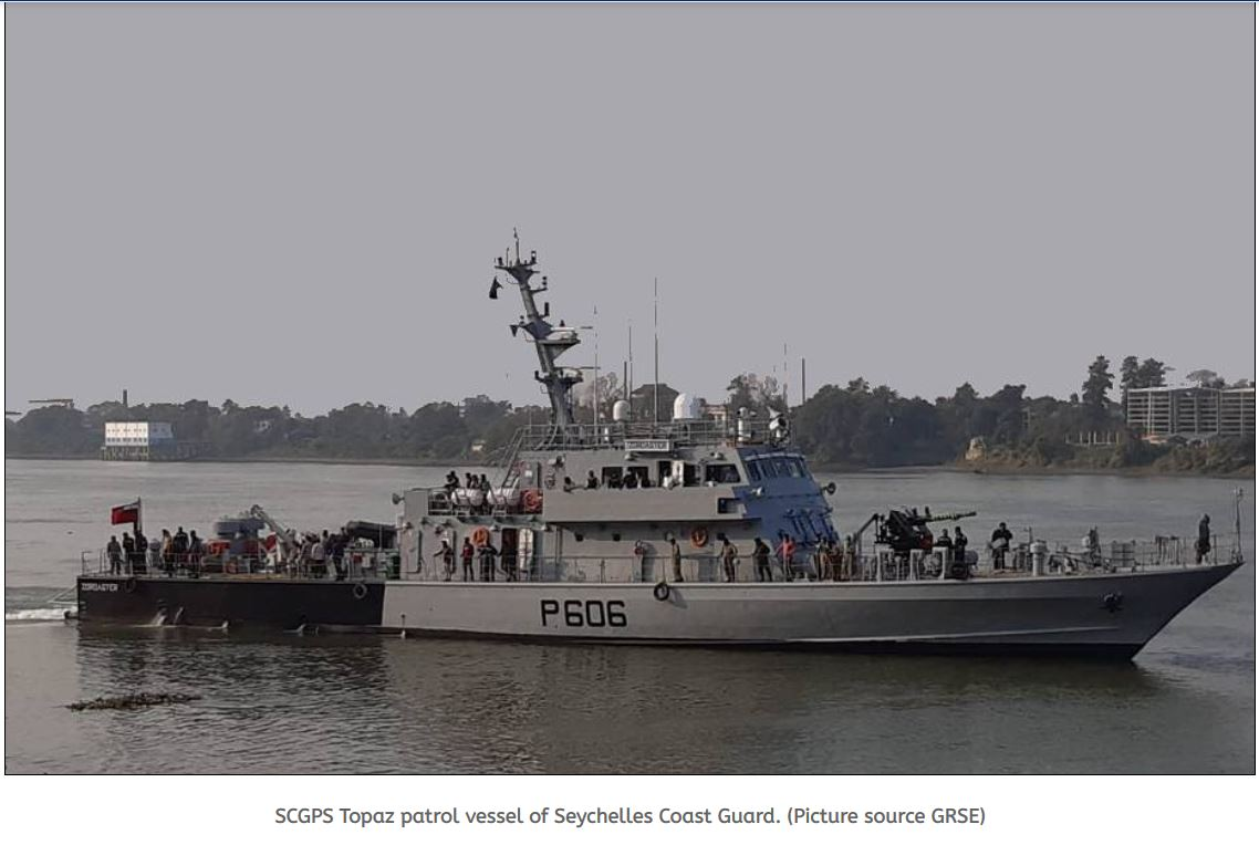 GRSE from India to deliver one Fast Patrol Vessel to Seychelles coast guard