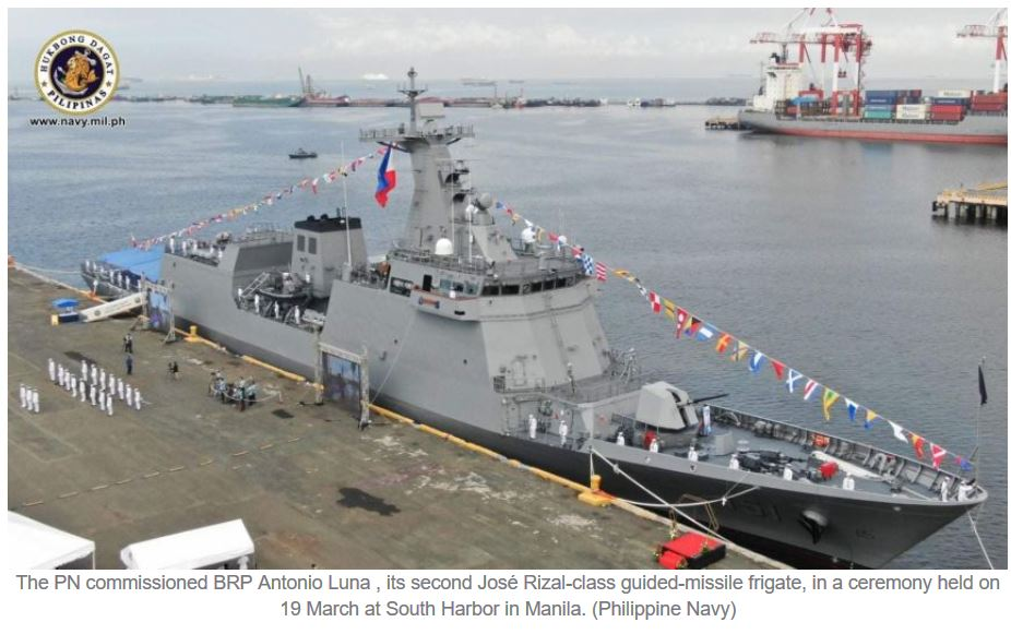 Philippine Navy commissions second and final José Rizal-class guided-missile frigate