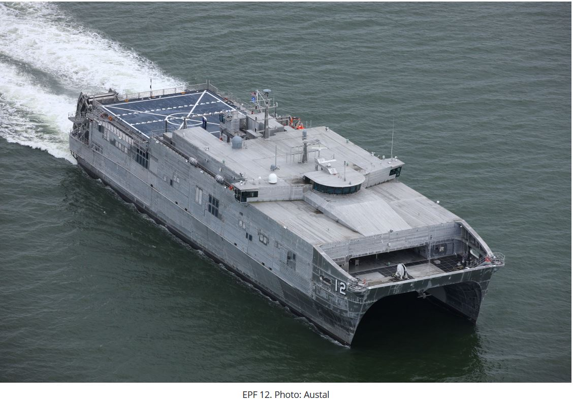 Austal wins contract for US Navy's 15th EPF