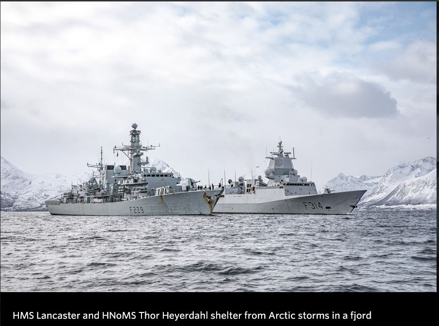 HMS Lancaster completes Navy's first Arctic deployment of 2021