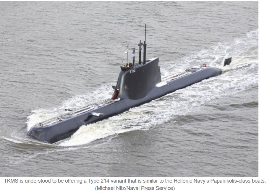 TKMS representatives arrive in Jakarta to discuss Type 214 submarines