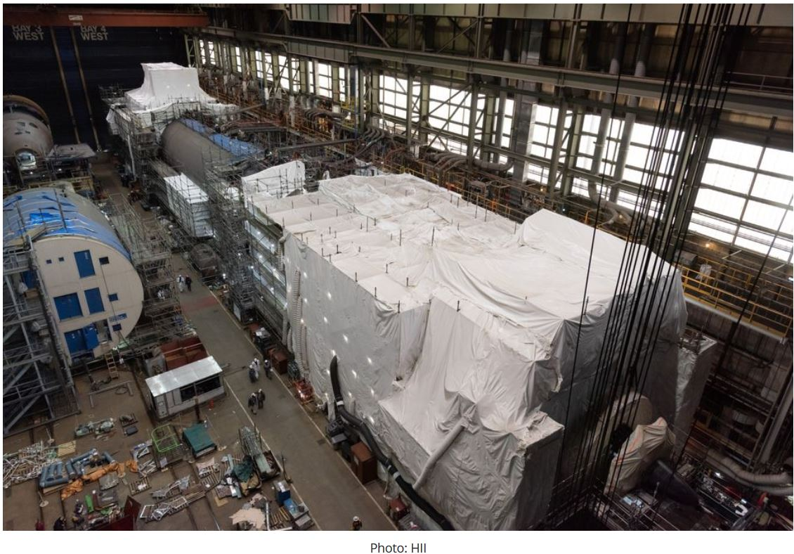 Pressure hull complete milestone achieved for submarine New Jersey