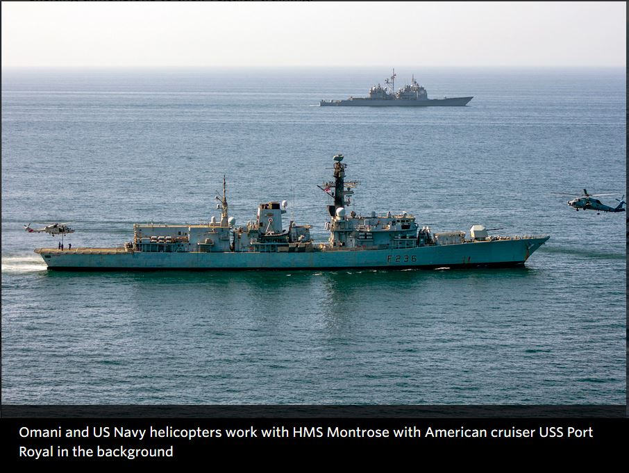 Royal Navy sharpens its skills in key Gulf exercise