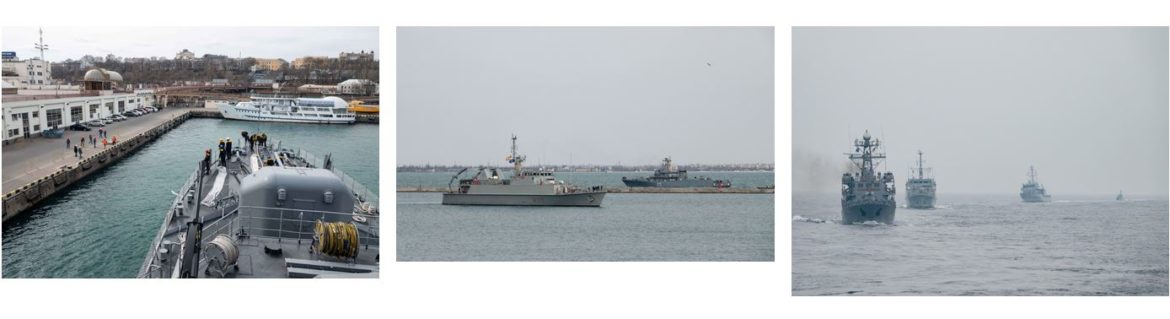 NATO forces train with the Ukrainian Navy