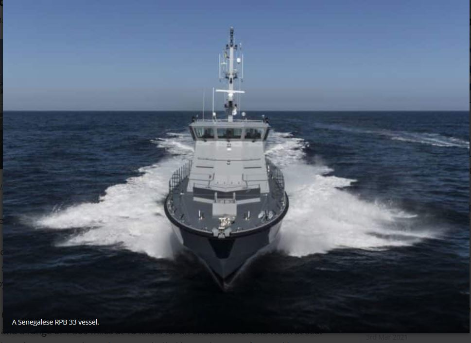 France's UFAST launches Senegalese patrol boat